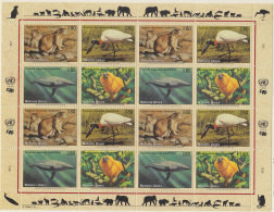 UNO  GENF  245-248, Zd-Bogen, Postfrisch **, Gefährdete Arten 1994 - Blocks & Kleinbögen
