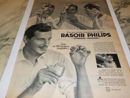 ANCIENNE PUBLICITE RASOIR  DE PHILIPS 1961 - Unclassified