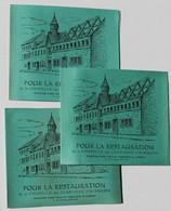 3 Carnet 6 Timbre Pour La Restauration De La Chapelle Des Clarisses D'Alençon Monastère 7 Rue De La Demi Lune Vélosolex - Collections