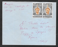 1959 NIGERIA KANO AIRPORT TO ROMA N°C382 - Nigeria (...-1960)