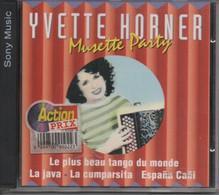 CD. Yvette HORNER - ACCORDEON - Musette Party. Le Plus Beau Tango Du Monde, La Java, Douce France, L'Oasis -  23 Titres - Compilations