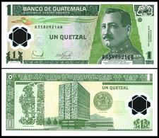 Guatemala - 1 Quetzal 2006 UNC Polymer Pick 109 Lemberg-Zp - Guatemala