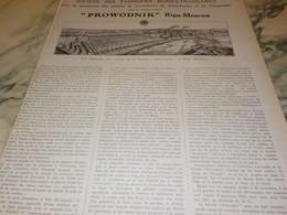 ANCIENNE PUBLICITE SOCIETE DES FABRIQUES RUSSES-FRANCAISE PROWODNIK 1917 - Altri