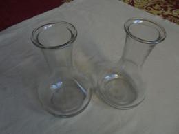 Ancien - Lot De 2 Carafes à Vin/eau/liquide En Verre (Bistrot/restauration) - Caraffe