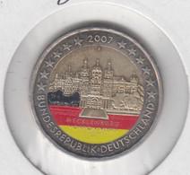 ALLEMAGNE - 2 Euros 2007 (chateau  De Schwerin)(atelier F)(colorisé) - Deutschland
