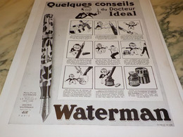 ANCIENNE PUBLICITE  CONSEILS DU DOCTEUR IDEAL WATERMAN 1932 - Altri