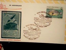"""ANNULLO SPECIALE """"ORBETELLO (GR)*24.6.1979* MOSTRA AEROFILATELICA-TARANTO ODESSA ORBETELLO-50° ANNIV. CROCIERA IG10550 - 1971-80: Storia Postale"""