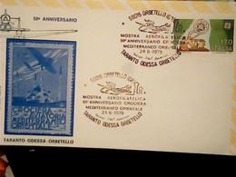 """ANNULLO SPECIALE """"ORBETELLO (GR)*24.6.1979* MOSTRA AEROFILATELICA-TARANTO ODESSA ORBETELLO-50° ANNIV. CROCIERA IG10551 - 1971-80: Storia Postale"""