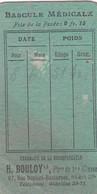 PARIS BOULOY PHARMACIE DE ROCHEFOUCAULD TICKET DE BASCULE MEDICALE PUBLICITE LOTION REGENERATRICE DU DR SAIDI AVEC TARIF - Tickets - Vouchers