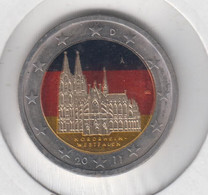 ALLEMAGNE - 2 Euros 2011 (cathedrale De Cologne)(atelier A)(colorisé) - Deutschland