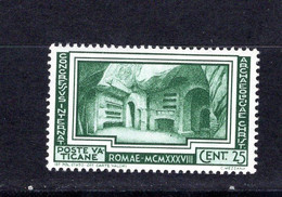Vaticano (1938) - Congresso Di Archeologia, 25 Cent. ** - Neufs