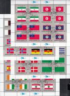 UNO NEW YORK  553-568, 4 Kleinbogen, Gestempelt, Flaggen Der UNO-Mitgliedstaaten (IX) 1988 - Blocks & Kleinbögen