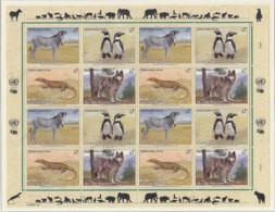 UNO WIEN  143-146, Kleinbogen, Postfrisch **, Gefährdete Arten (I): Fauna 1993 - Blocks & Kleinbögen
