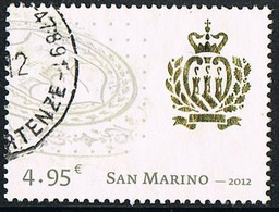2012 - SAN MARINO - TRIBUTO ALLO STEMMA - TRIBUTE TO THE COAT OF ARMS - USED - Usati