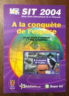SEPATEL 2 MN HOUILLES AVION ESPACE SIT 2004 AVEC ENCART PRÉPAYÉE PREPAID PHONECARD CARD PAS TÉLÉCARTE - Altre Schede Prepagate