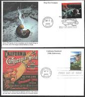 US  2000  Sc#3438-9  33c California & Anglerfish On 2 Mystic FDCs - 1991-2000