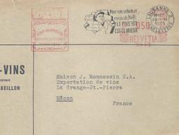 """Freistempel  """"Marini, Vino Vermouth, Qualita Superiore Turin 1856, Lausanne""""           1959 - Covers & Documents"""