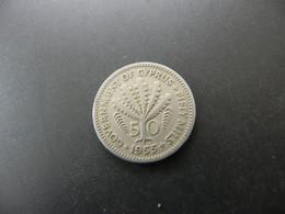 Cyprus 50 Mils 1955 - Chipre