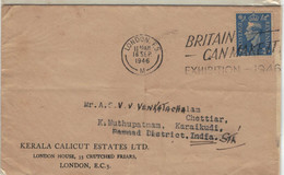 Kerala Calicut Estates Ltd London 1946 > Karai Kudi - Covers & Documents