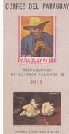 REPRODUCCION DE CUADROS FAMOSOS II MANET VAN GOGH. FAMOUS PICTURES PEINTURES CÉLÈBRES. PARAGUAY BLOCK FEUILLET. - LILHU - Altri