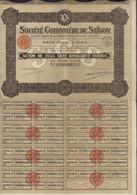 Indochine Action Société Cotonnière De Saïgon Viet Nam Vietnam Sige Social Paris 250 Francs Au Porteur - Industrie
