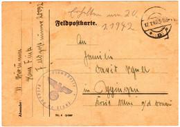 """Feldpostkarte Vom 17.1.1942 - Feldpostnummer 20092 - SS-Division """"Das Reich"""". Absender: SS-Sturmmann. - Seconda Guerra Mondiale"""