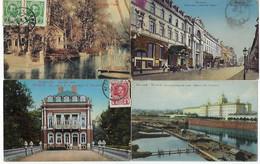 RUSSIE - 4 CARTES - MOSCOU / PETERHOF / ZARSKOJE - 1907 / 1914 / 1913 - Russia