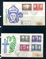 Vatican City 1966 2 Register  FDC Sc 433-8 To Roma 11643 - Storia Postale