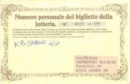 Lotterie Albino 1984 > Piccolomini Vagliagli Siena - STempelmarken - Taxe Nachgebühr - 1981-90: Storia Postale