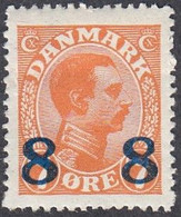 Denmark, Scott #161, Mint Hinged, Christian X Surcharged, Issued 1921 - Ungebraucht