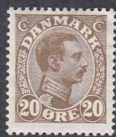 Denmark, Scott #104, Mint Hinged, Christian X, Issued 1921 - Ungebraucht