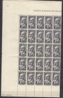 España 1165 ** Torres Quevedo. 1955. Pliego Completo, Plegado Horizontal Y Verticalmente. - 1951-60 Neufs