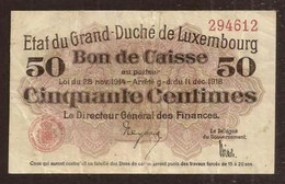 LUXEMBOURG. 50 Centimes 1914-1918. Pick 26. - Luxembourg