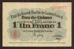 LUXEMBOURG. 1 Franc 1914-1918. Pick 27. - Luxembourg