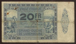 LUXEMBOURG. 20 Francs 1.10.1929. Pick 37. - Luxembourg