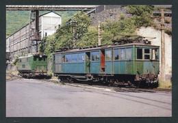 """Carte-photo Moderne """"Tramway Ligne De St Georges-de-Commiers à La Mure - Mine De Charbon Du Villaret - Tram Années 60"""" - Tramways"""