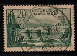 Q029Q - FRANCE - 1938 - YV#: 394 - USED - PORT OF SAINT MALO - Oblitérés