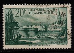 Q029R - FRANCE - 1938 - YV#: 394 - USED - PORT OF SAINT MALO - Oblitérés