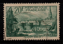 Q029S - FRANCE - 1938 - YV#: 394 - USED - PORT OF SAINT MALO - Oblitérés