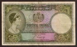LUXEMBOURG. 50 Francs (1944). Pick 46. Prefix B. - Luxembourg