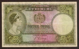 LUXEMBOURG. 50 Francs (1944). Pick 46. Prefix C. - Luxembourg