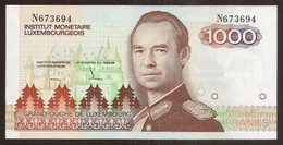 LUXEMBOURG. 1000 Francs (1985). Pick 59. UNC. Prefix N. - Luxembourg