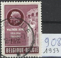 België  Belgique : 1953  Nr 908 Gestempeld Oprichting Van Een Monument Te Luik - Gebraucht
