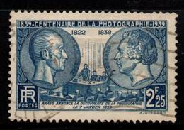 Q030F - FRANCE - 1939 - YV#: 427 - USED - NIEPCE AND DAGUERRE - PHOTOGRAPHY - Oblitérés