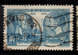 Q030G - FRANCE - 1939 - YV#: 427 - USED - NIEPCE AND DAGUERRE - PHOTOGRAPHY - Oblitérés