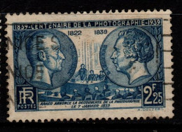 Q030H - FRANCE - 1939 - YV#: 427 - USED - NIEPCE AND DAGUERRE - PHOTOGRAPHY - Oblitérés