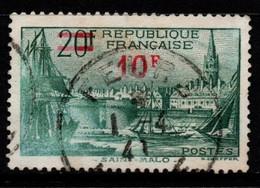 Q030K - FRANCE - 1939 - YV#: 492 - USED - SAINT MALO SURCHARGED - Oblitérés