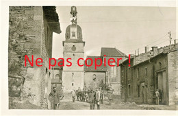 CARTE PHOTO ALLEMANDE - RUE ET EGLISE DE ROMAGNE SOUS LES COTES PRES DE DAMVILLERS MEUSE - GUERRE 1914 1918 - Guerra 1914-18