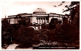 (5 A 12) Older UK Postcard - Aberdeen War Memorial (posted 1955) - Oorlogsmonumenten