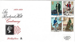 Great Britain 1979 Sir Rowland Hill Centenary Mercury FDC - 1971-1980 Decimal Issues